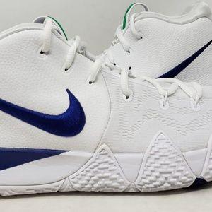 Nike Kyrie 4 White Deep Royal Blue Men's US Sz 13